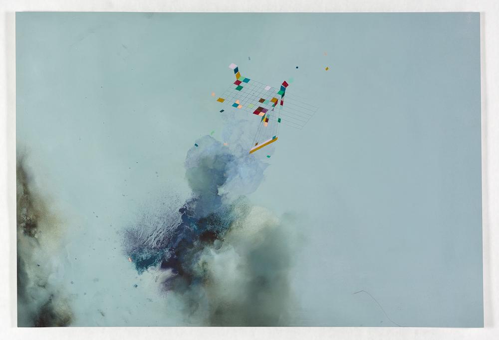 """Twist, 2013, oil on paper 18"""" x 30"""""""