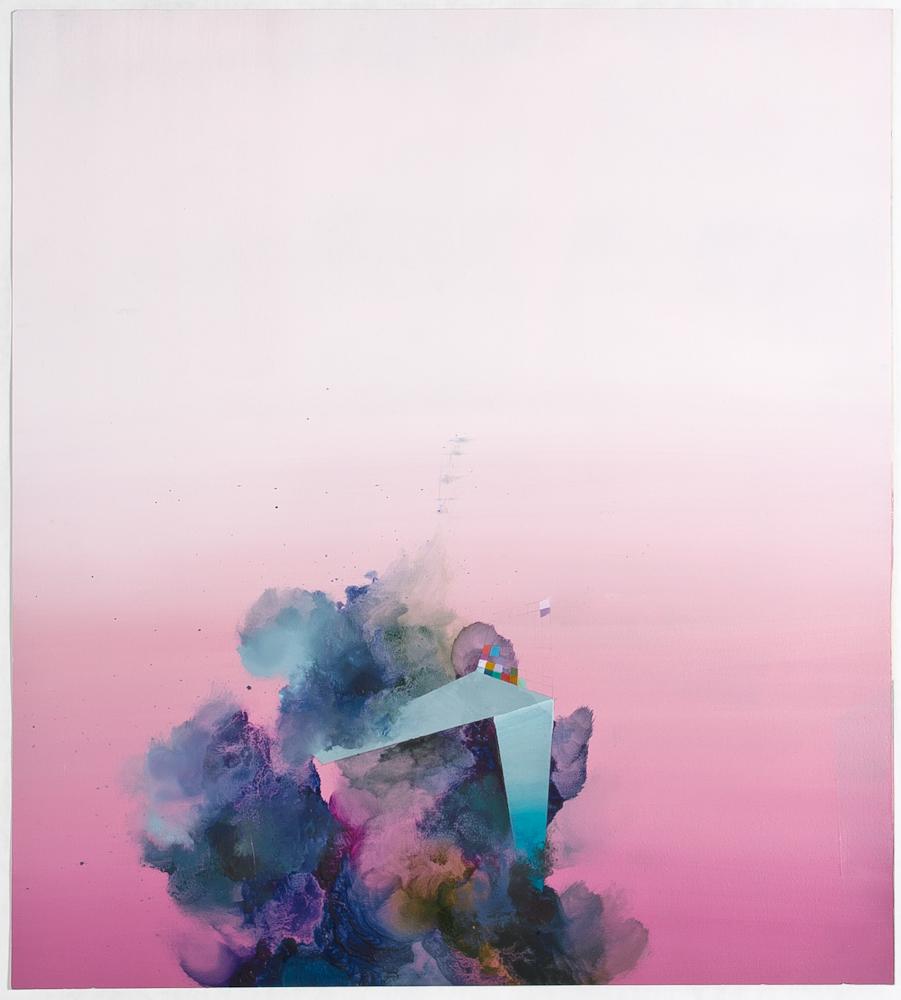 "Hinge, 2013, oil on paper, 20"" x 14"""