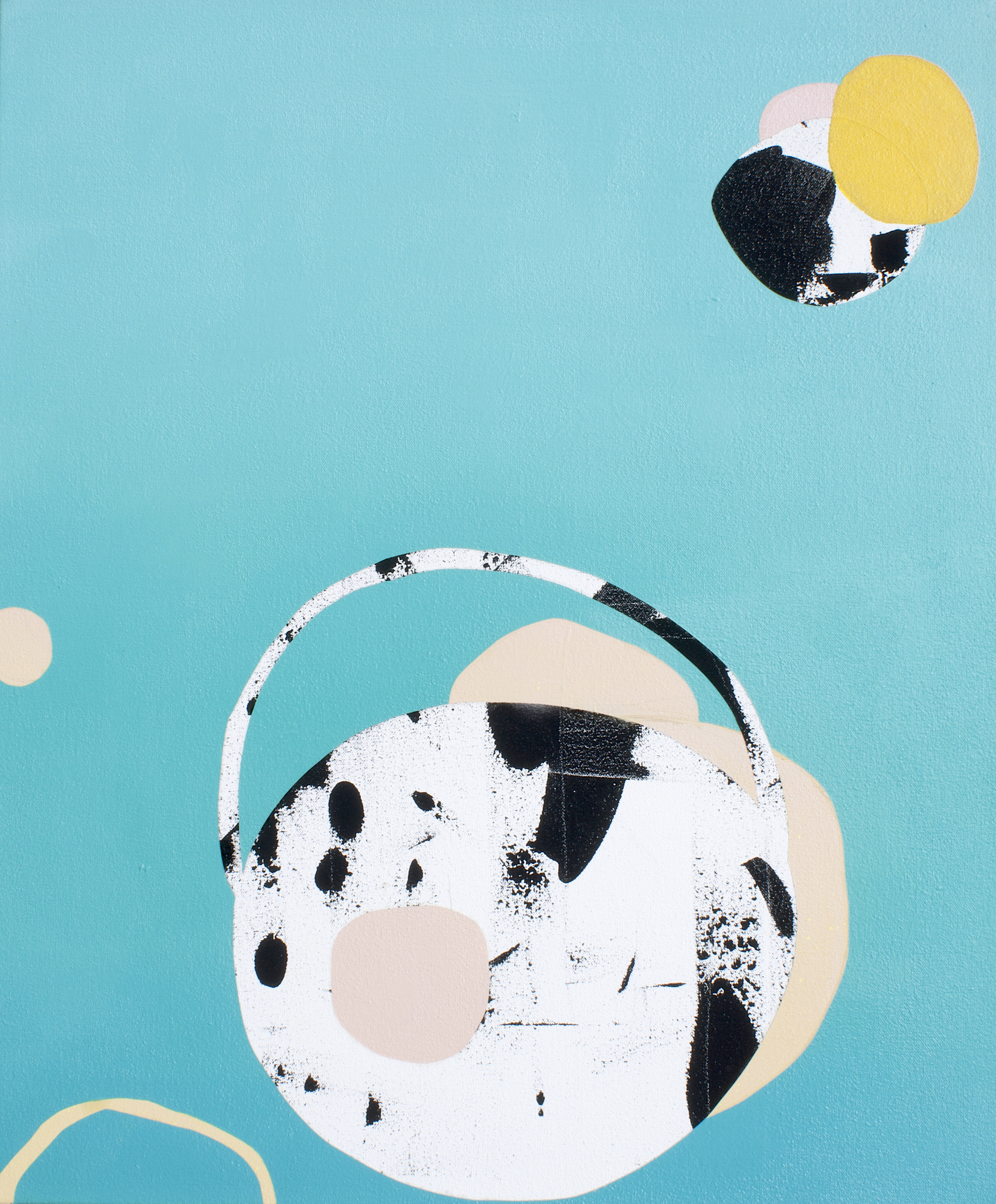 Bubble , 2019. Acrylic & oil on canvas, 26 x 20 in.