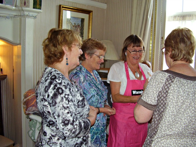 Bernadette with her sisters – (from left to right) Clare, who produced the table-cloths; Louise, who produced Jonathan and has been a great help doing tasting sessions in shops; and Mary, who produced Fergus, who designed and for nine years ran our website