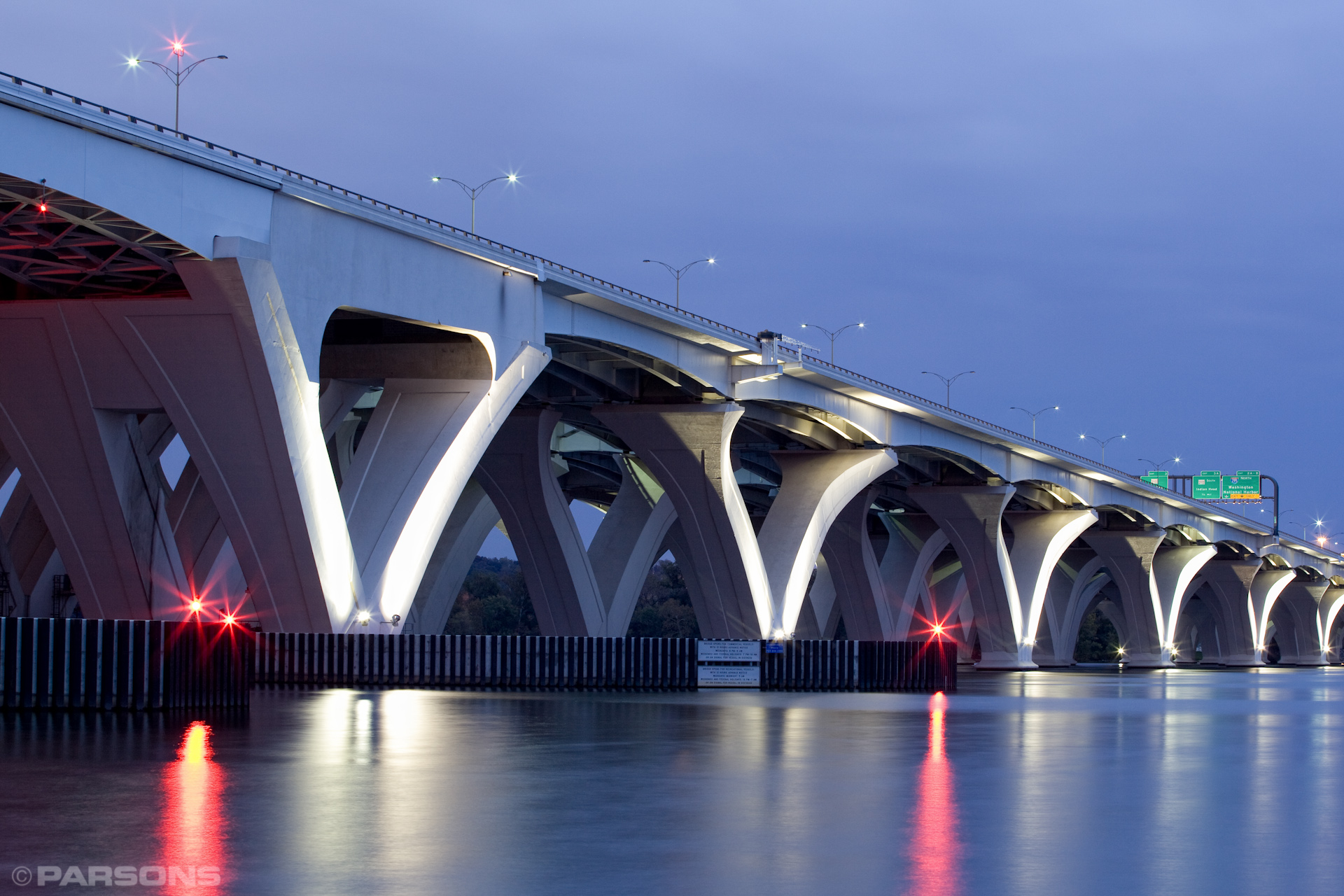 Civil-Engineering-Woodrow-Wilson-Bridge-Virgina-Washington-DC-Night.JPG