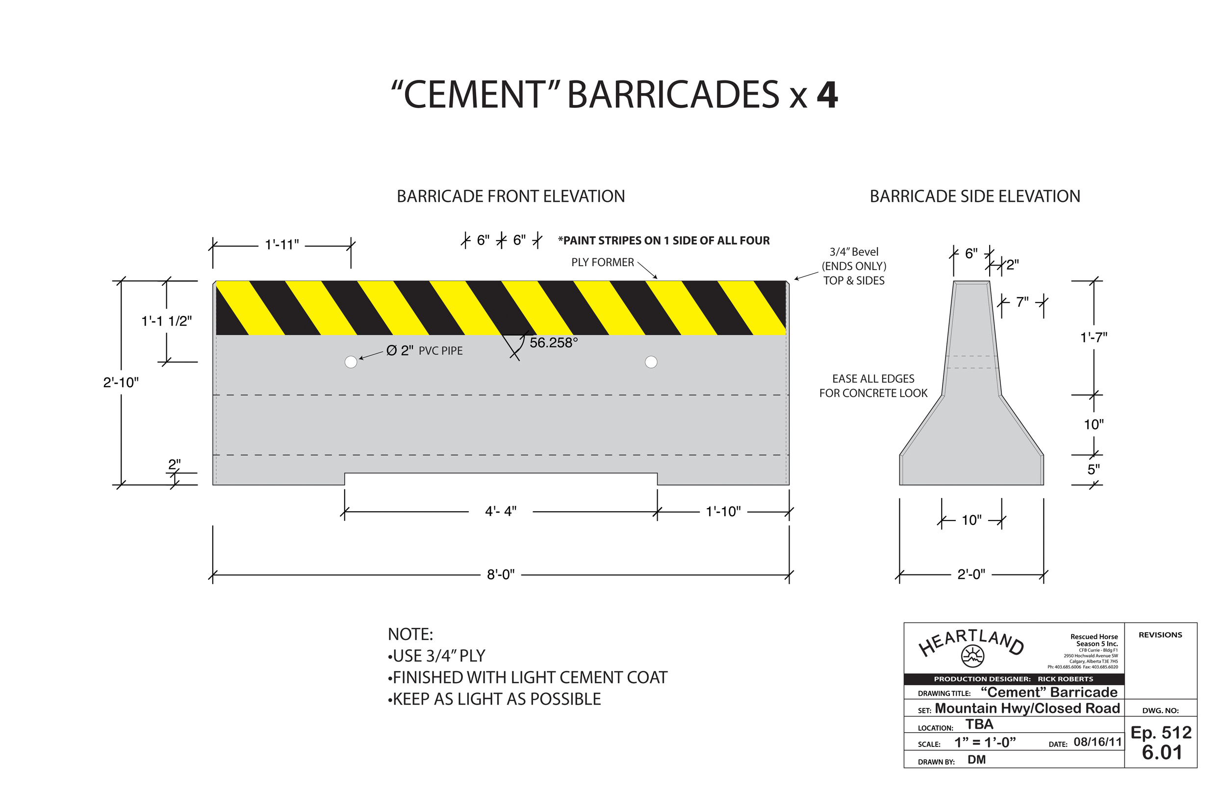 False Cement Barracade - Heartland Season 5