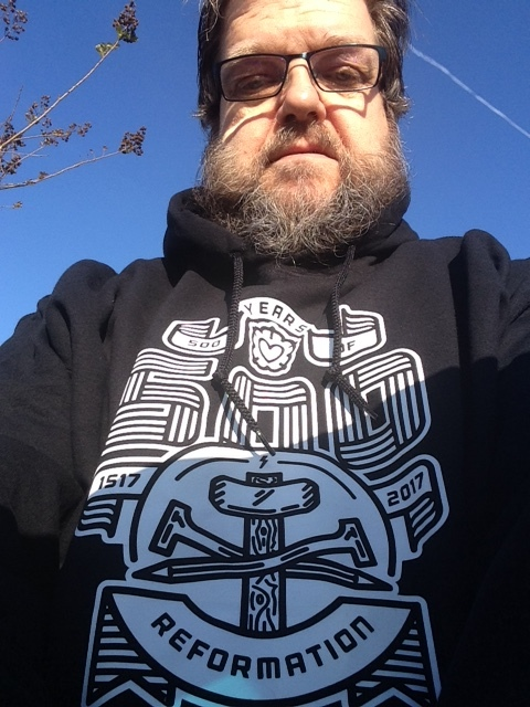 Scott Kalas Founder/Steward of SOCPM trying out his new hoodie from Missional Wear.