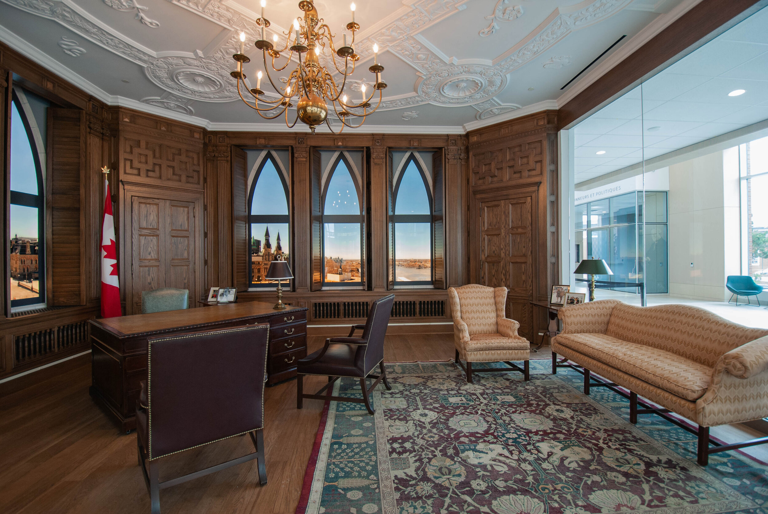 The jewel of the exhibition is a re-creation of Prime Minister Mulroney's Centre Block office on Parliament Hill. This is the closest anyone will get to the real PM's Office until Centre Block renovations are done almost a decade from now!