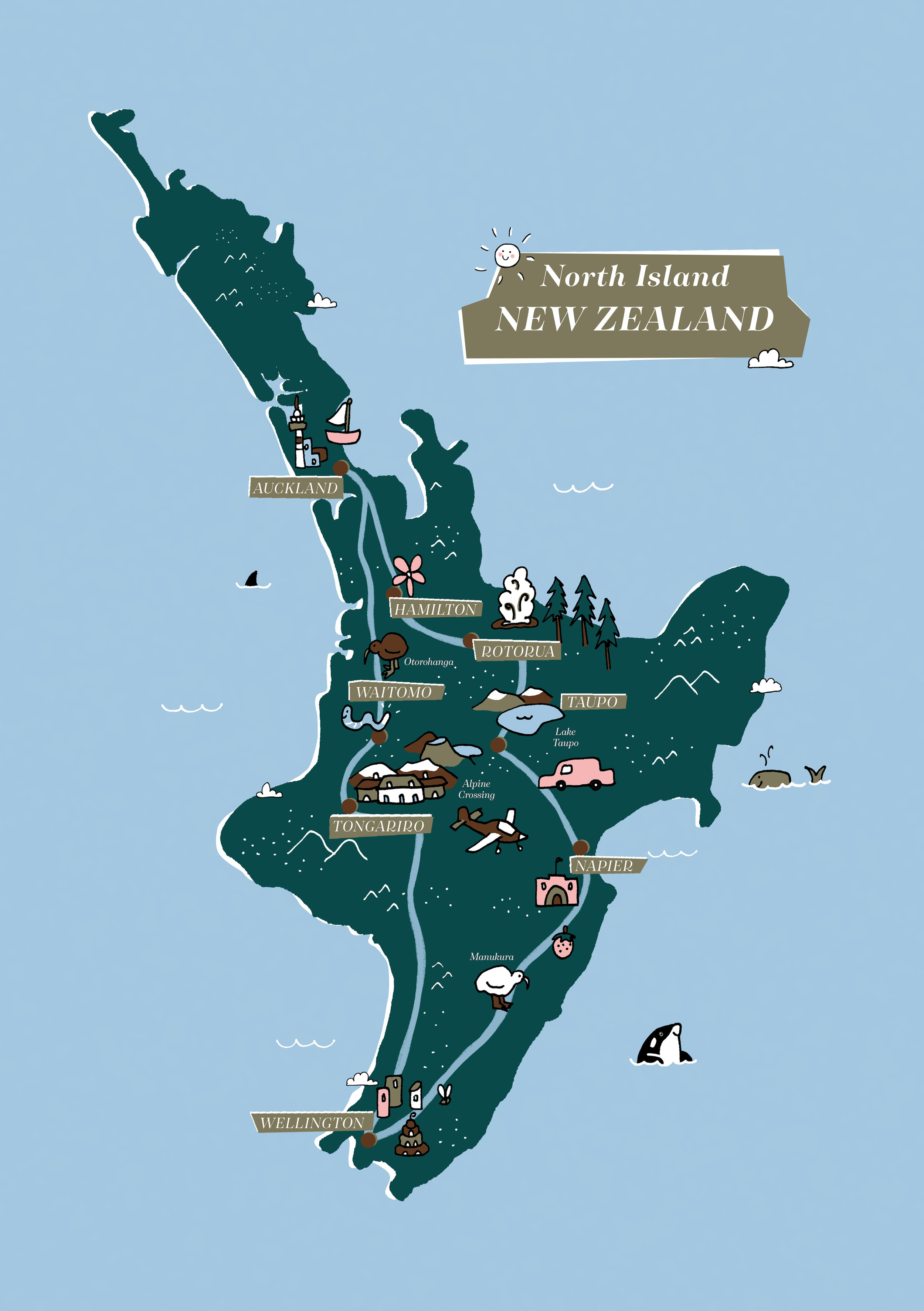North Island New Zealand, by Megan McKean