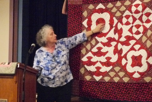 Pepper Cory at Village Quilters, August 2014