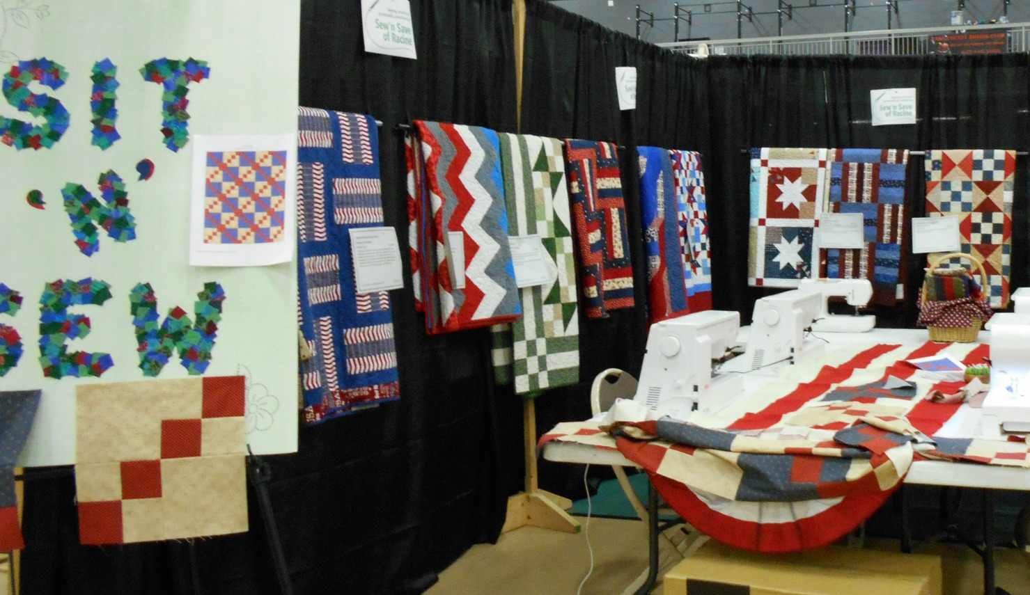 Sit 'n' Sew area from the 2015 Quilt Show.