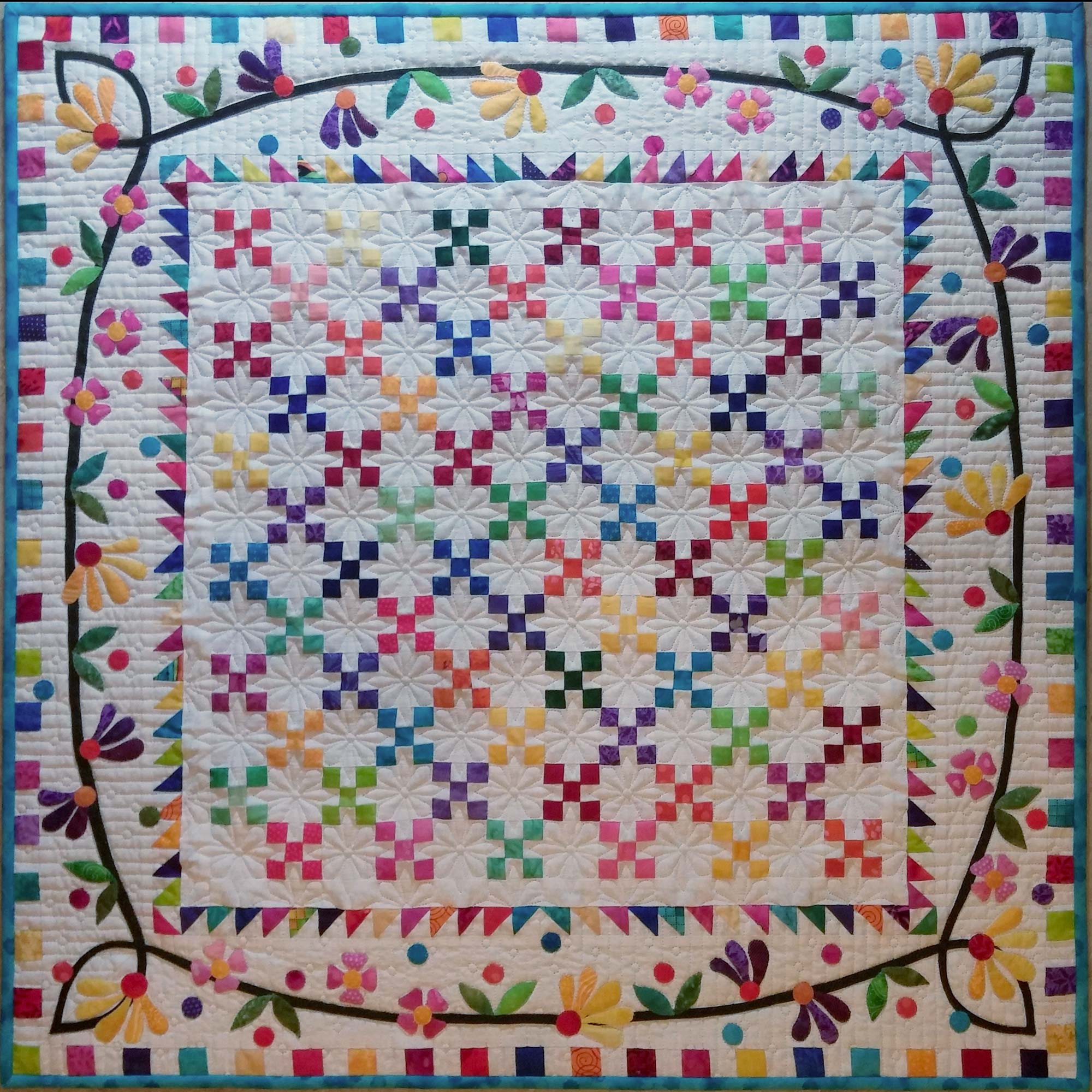 A special quilt in the silent auction, just in case you don't win the big one.