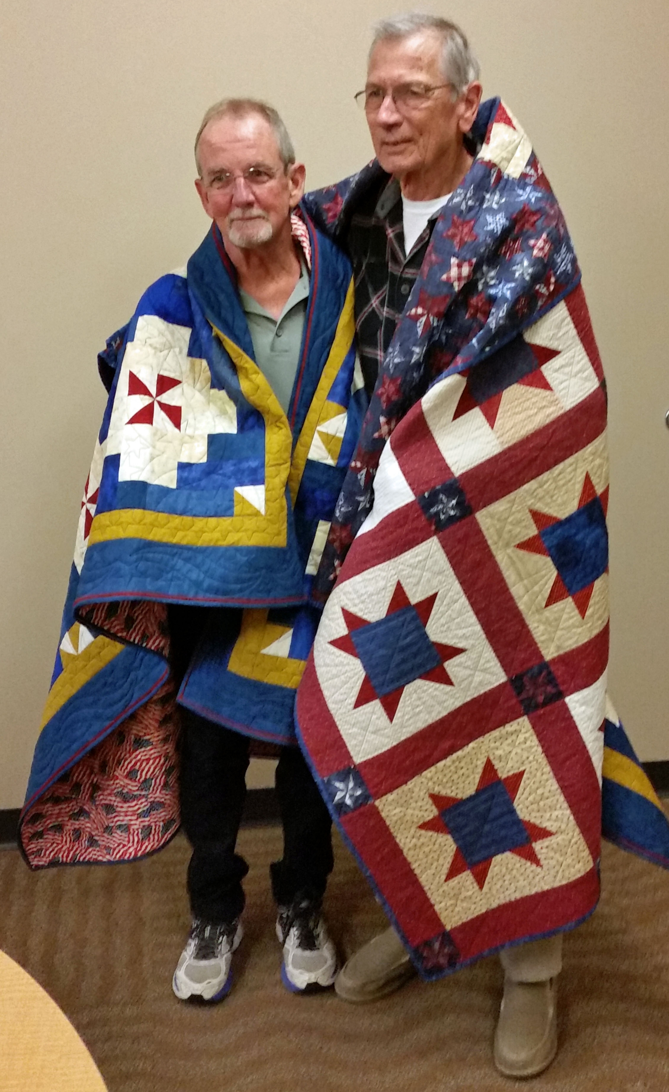 Two more quilts made by VQ members, awarded 10/30 in Lake Zurich.