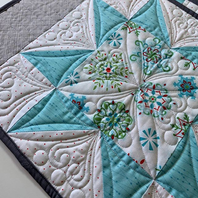 Amazing quilting on these placemats for sale in the Boutique of our upcoming show!  Quilts from the Village will be held October 4-5, 2019, in Libertyville, Illinois. #VQshow2019 #QuiltsfromtheVillage #quilting #quilt #sewing #quiltshow #VillageQuilters #VillageQuiltersLBLF
