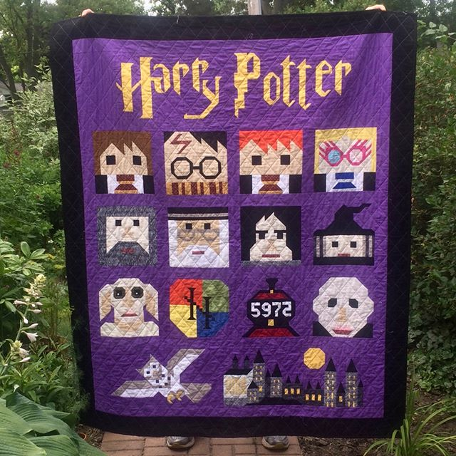 This awesome Harry Potter quilt by Kathy Sorkin will be on display at our show next weekend.  Quilts from the Village will be held October 4-5, 2019, in Libertyville, Illinois. #VQshow2019 #QuiltsfromtheVillage #quilting #quilt #sewing #quiltshow #VillageQuilters #VillageQuiltersLBLF #harrypotterquilt