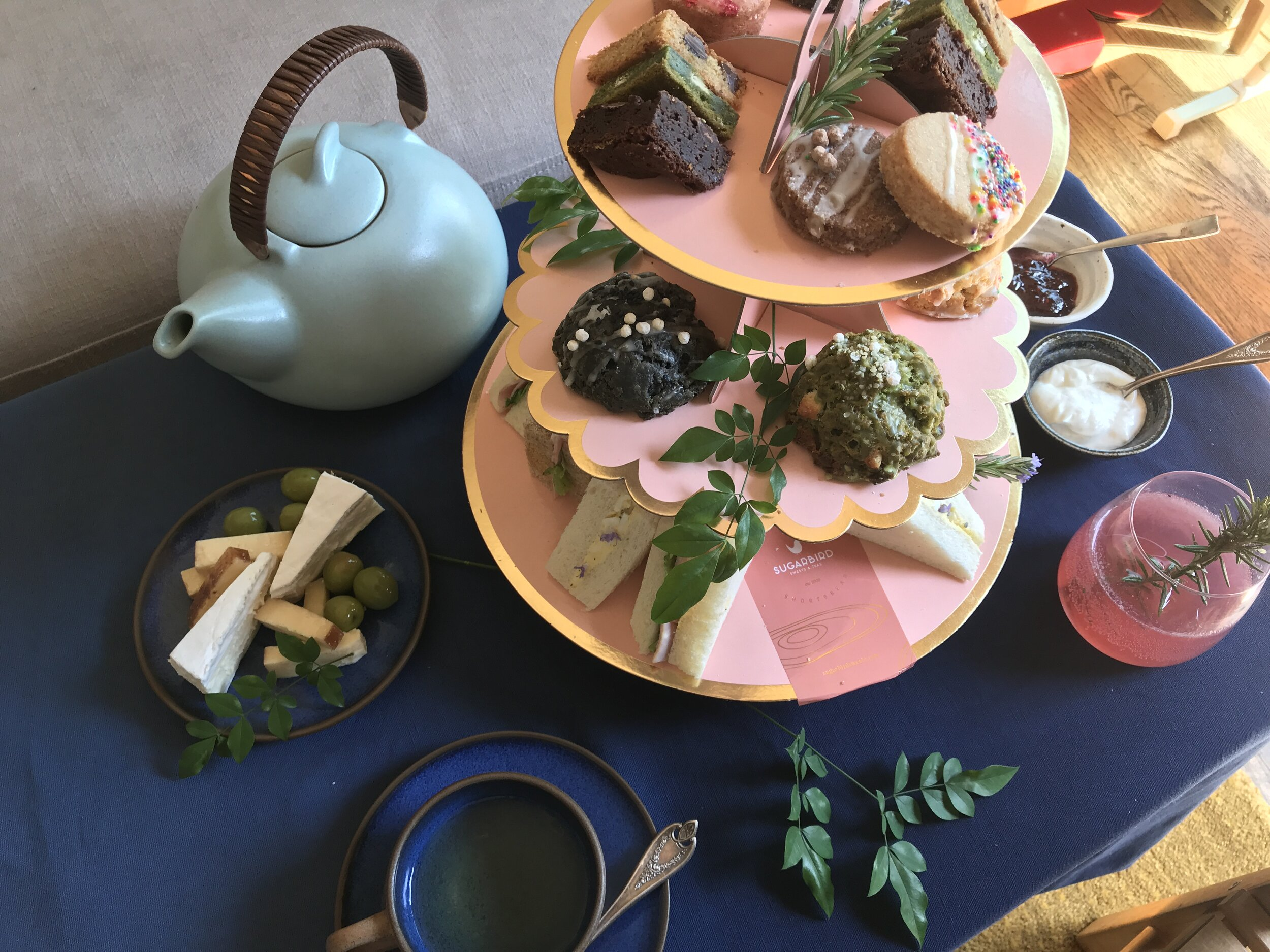 Host Your Own Virtual Tea Party With Your Own Afternoon Tea Gift Box Filled With Tea Sandwiches Buttery Scones And Clotted Cream Direct Sugarbird Sweets Teas Afternoon Tea Experience That Delights