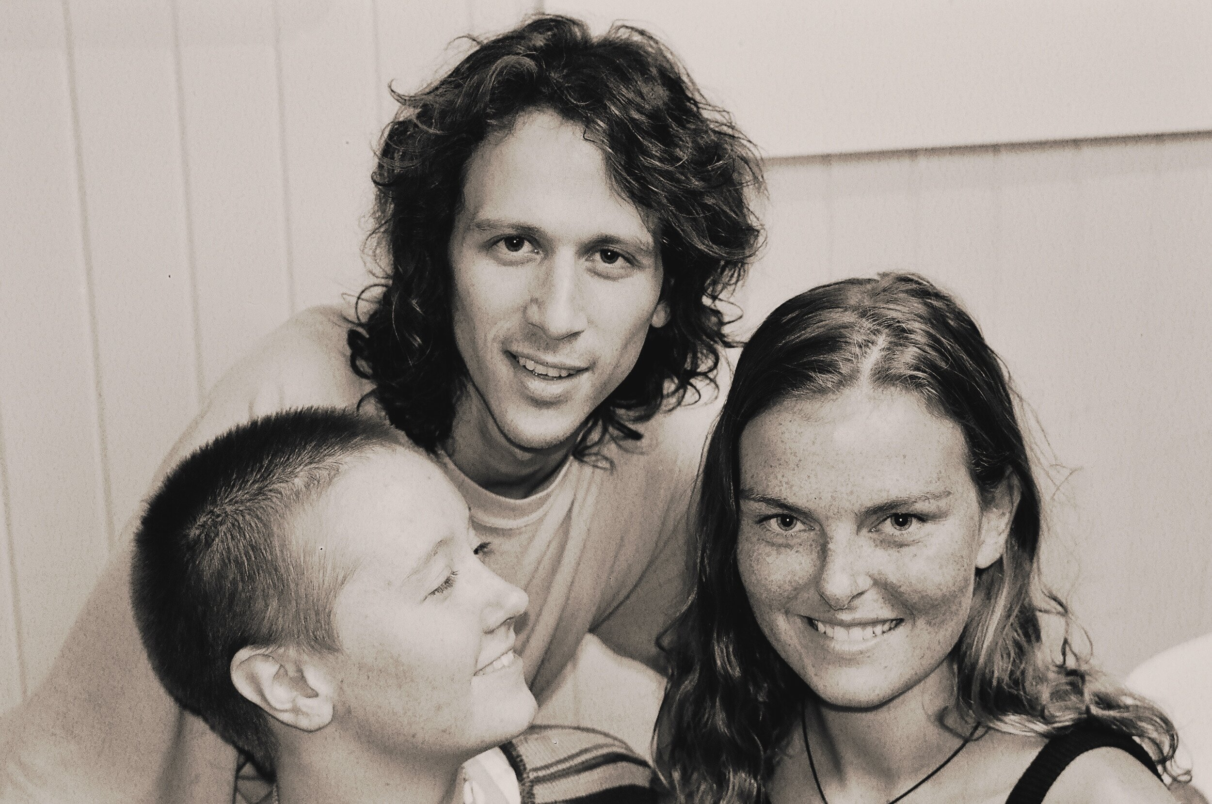 """Renée Loux, Christopher Fishkin, and Me at """"THE RAW EXPERIENCE Restaurant,"""" Paia, Maui, CIrca 1998 (Photo Credit: Bud Clifton)"""