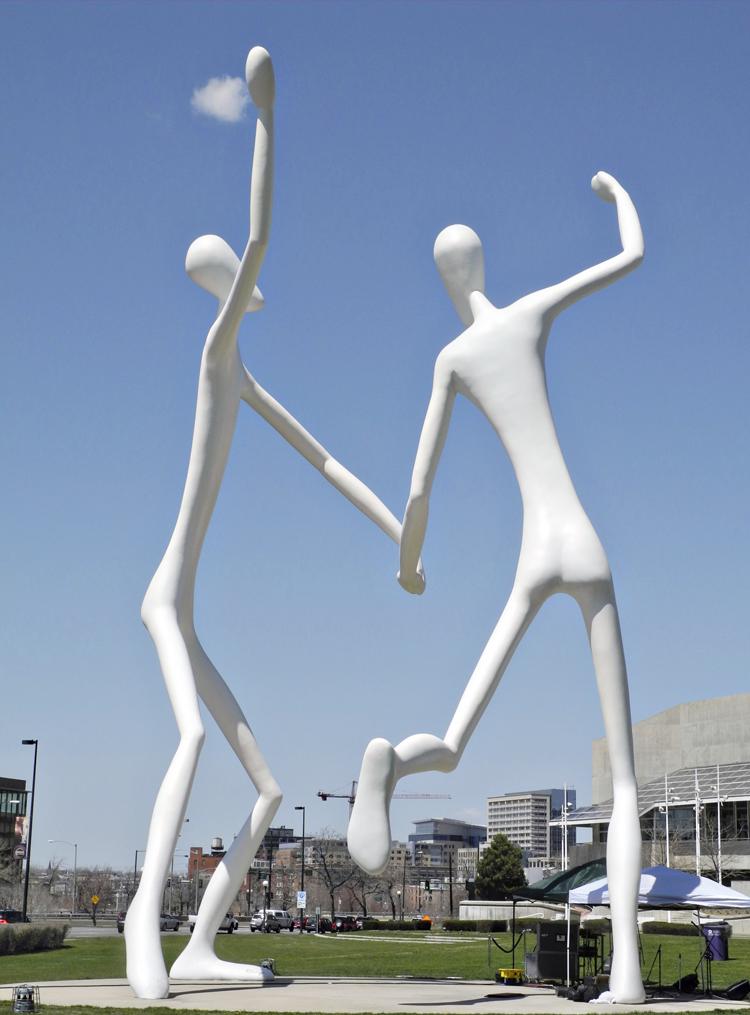 Dancers // By Jonathan Borofsky