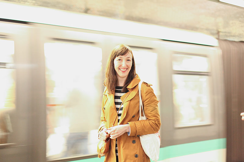 """Me in the Paris metro."" - Anne Ditmeyer // Photo by  Ashley Ludaescher"