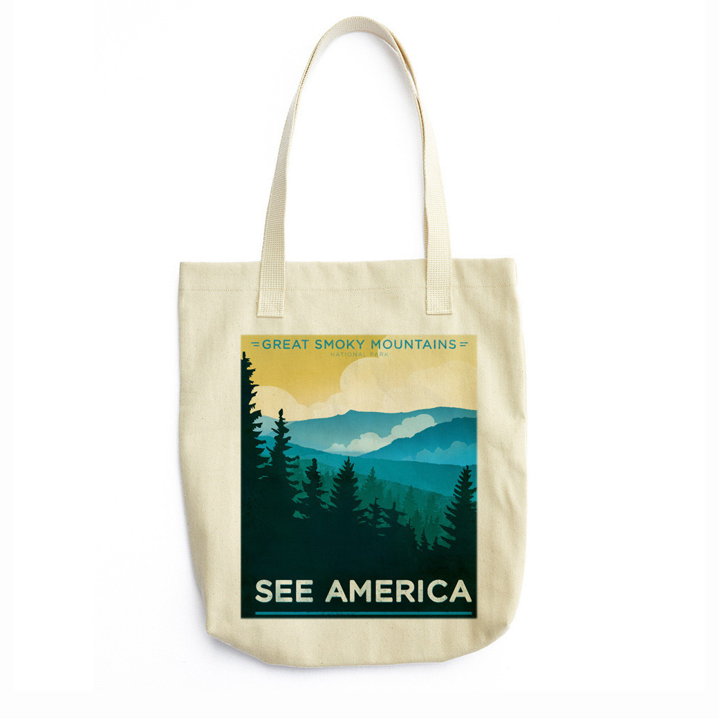 Great Smoky Mountains National Park Tote Bag by Jon Cain