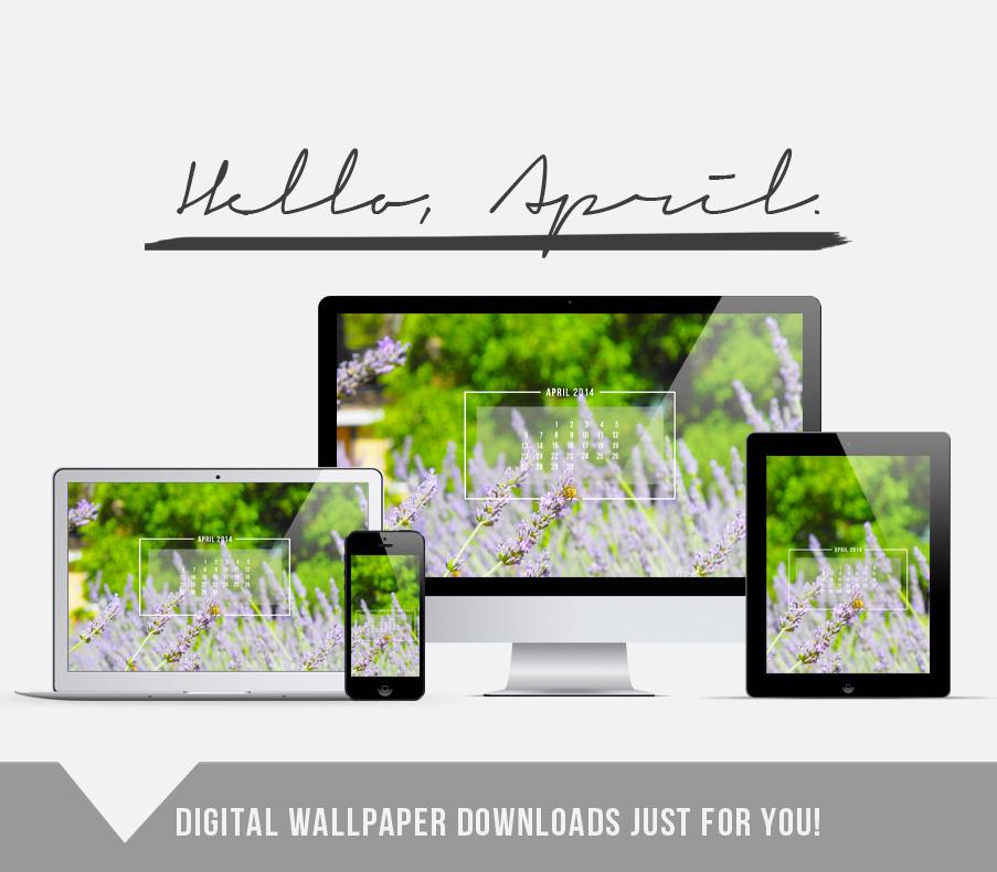 Hello, April. // Free digital wallpaper download // http://jenniferesnyder.com/blog