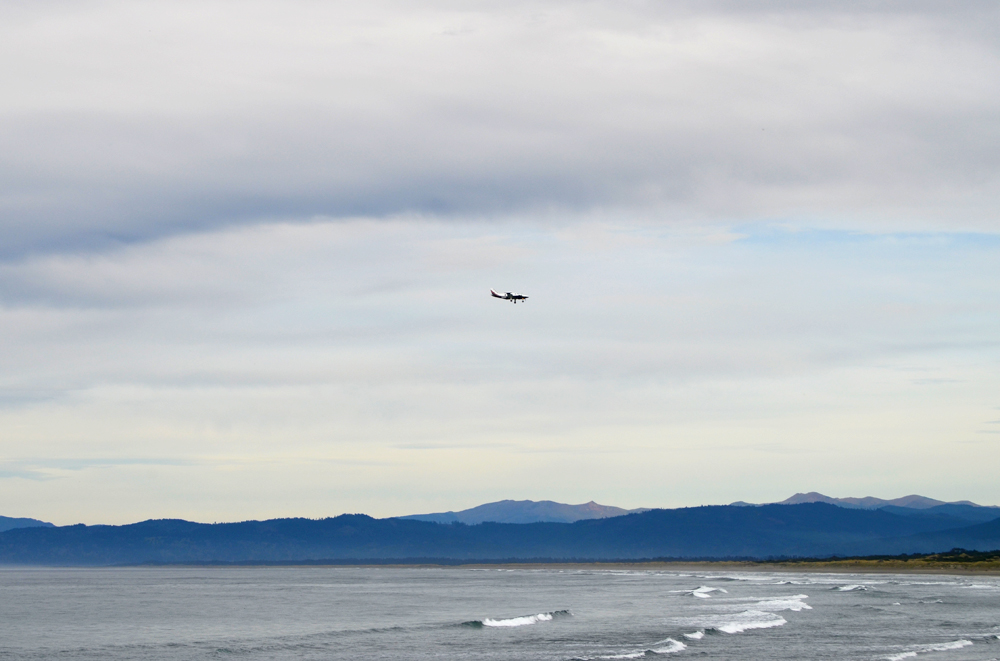 Flight coming in to the Crescent City Airport //  Point St. George Heritage Area // Crescent City, CA