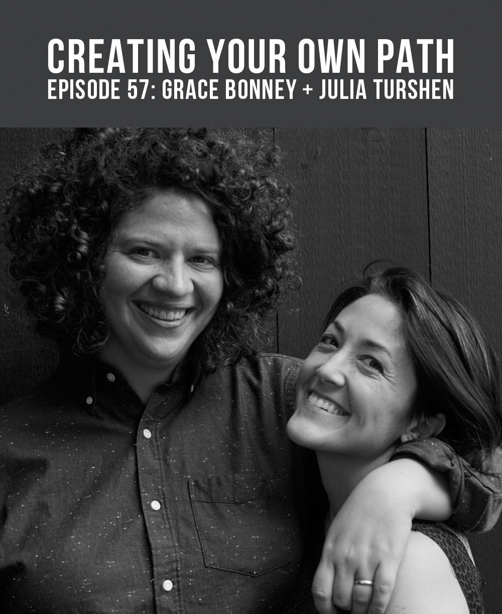 Grace Bonney  +  Julia Turshen  // Photo:  Andrea Gentl + Martin Hyers