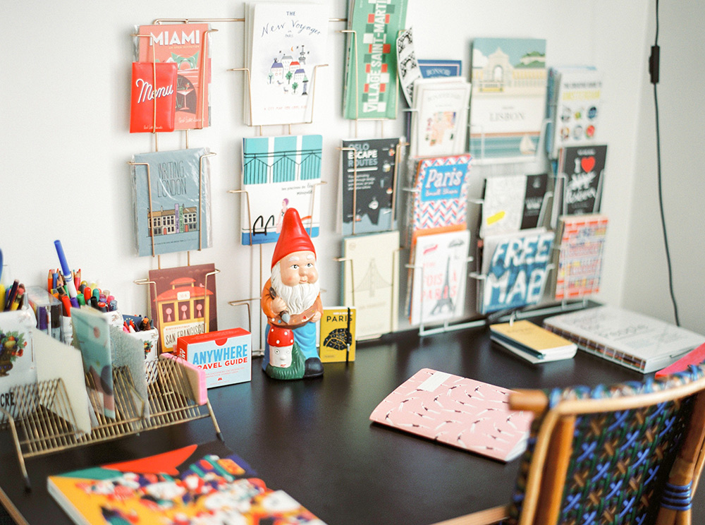 Photo: Anne's desk (+gnome!) by  Ashley Ludaescher