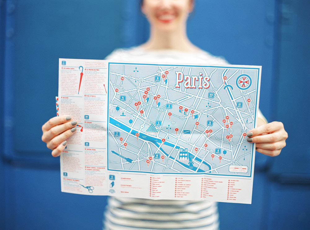 Photo: Anne's Herb Lester Paris Small Shops map snapped by  Ashley Ludaescher