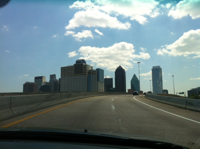 Driving into Dallas for the first time!
