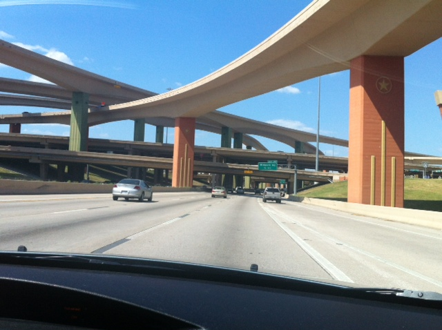 The 75 freeway under the 635 Freeway!
