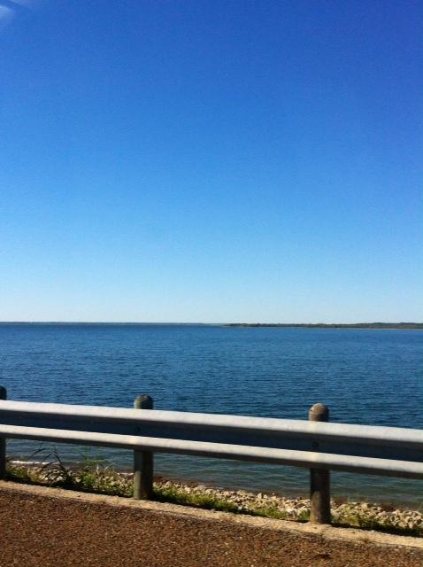 Crossing Ray Roberts Lake