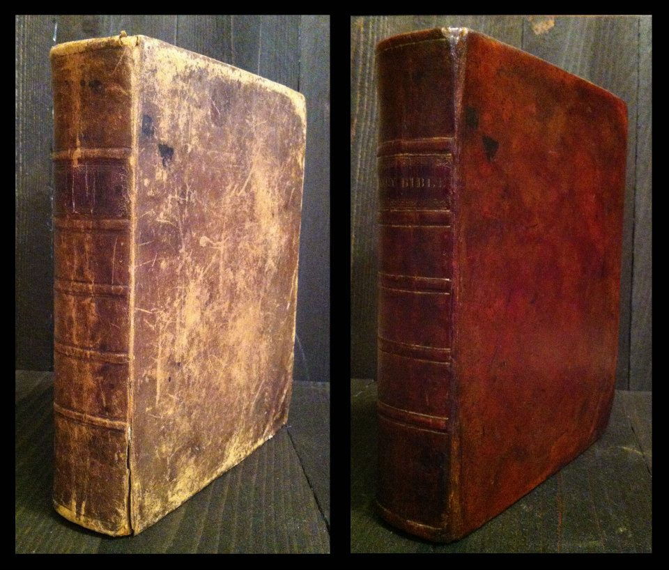 Phinney - Cooperstown Bible. Hinge and cosmetic repairs.