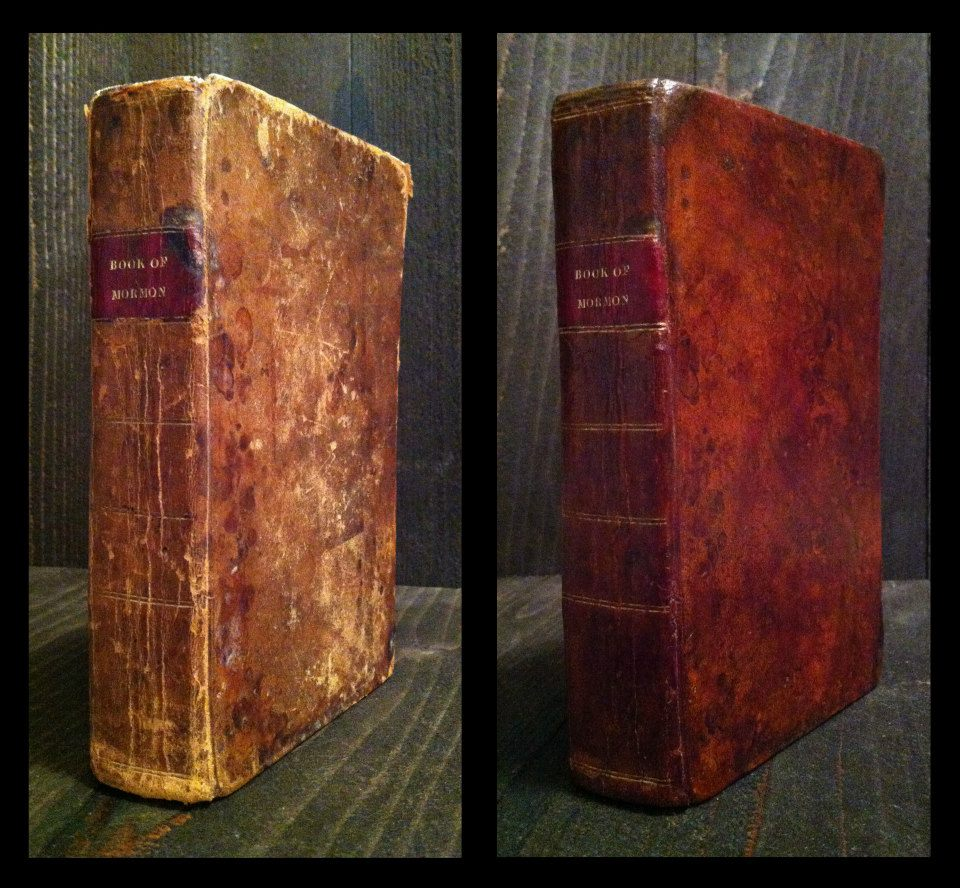 1830 First Edition Book of Mormon, Before and After restoration.