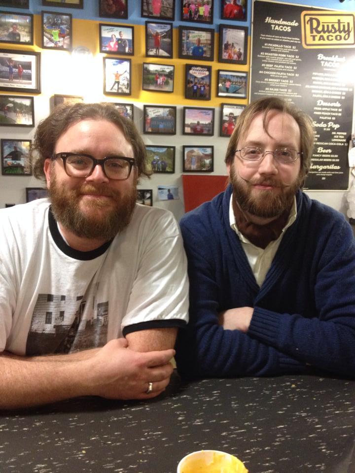Bran and Joe at the Rusty Taco.