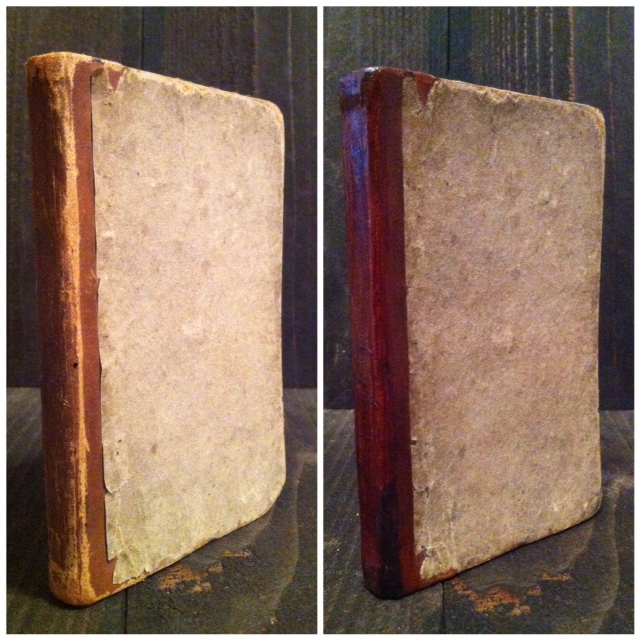 The Mathematical Expositor, 1832, printed by E.B. Grandin. Clean up and hinge repairs with built out corners.