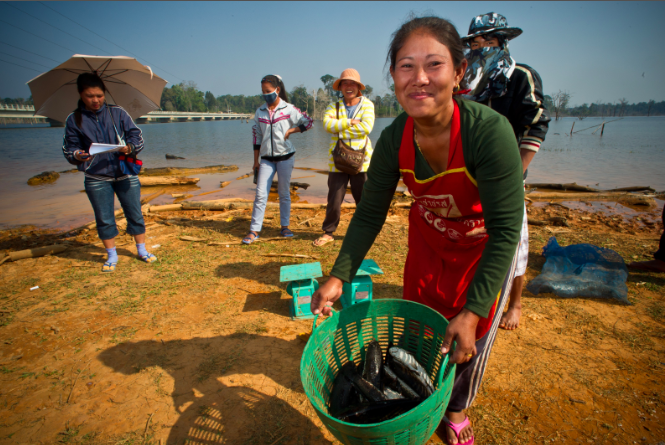 Relocated villagers from the Nam Theun 2 Hydroelectric Project in the Khammouane province of Lao People's Democratic Republic (Laos) are now earning more from fishing and other alternative livelihoods. Photo credit: Ariel Javellana, Copyright: Asian Development Bank 2010