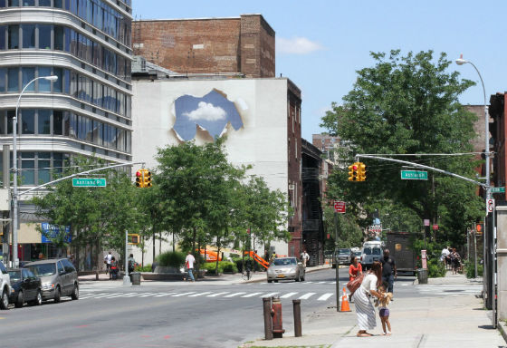Ed Purver's The Always Season, at Lafayette Ave and Ashland Place. Photo by Hillary Bliss.