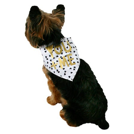 You + Me Bandanna With Hearts Pets Costume Accerssories $4.99