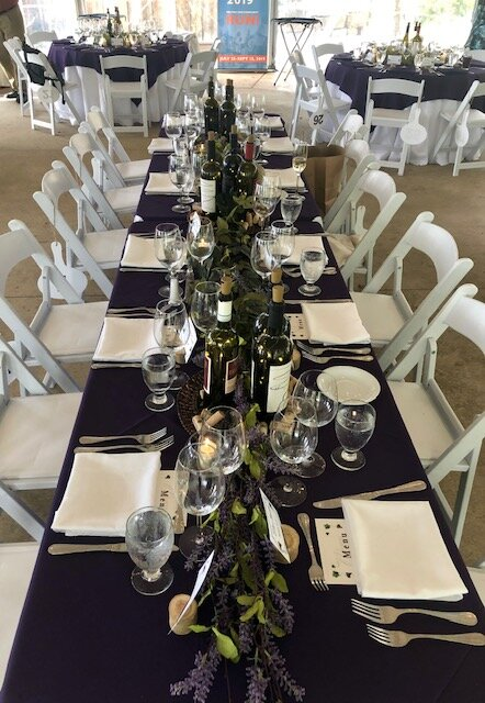 A table at the Gala Dinner & Auction