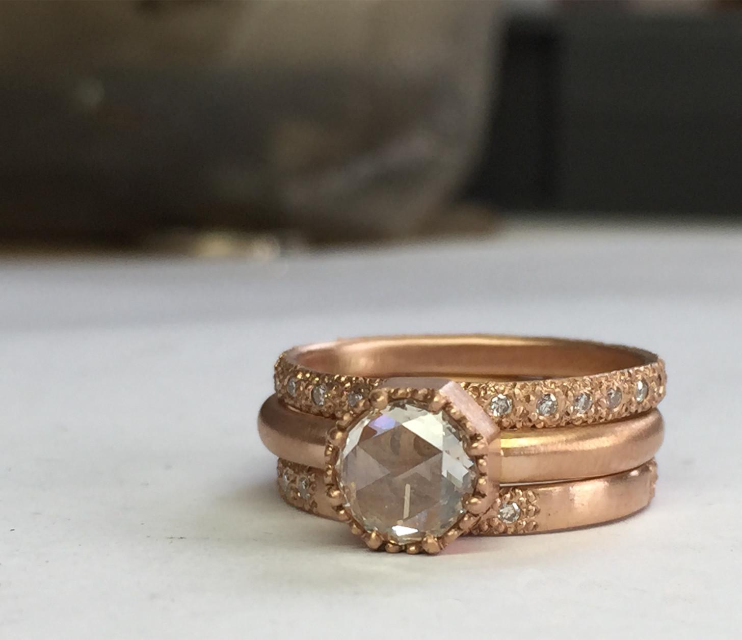 Rose Cut Diamond Set