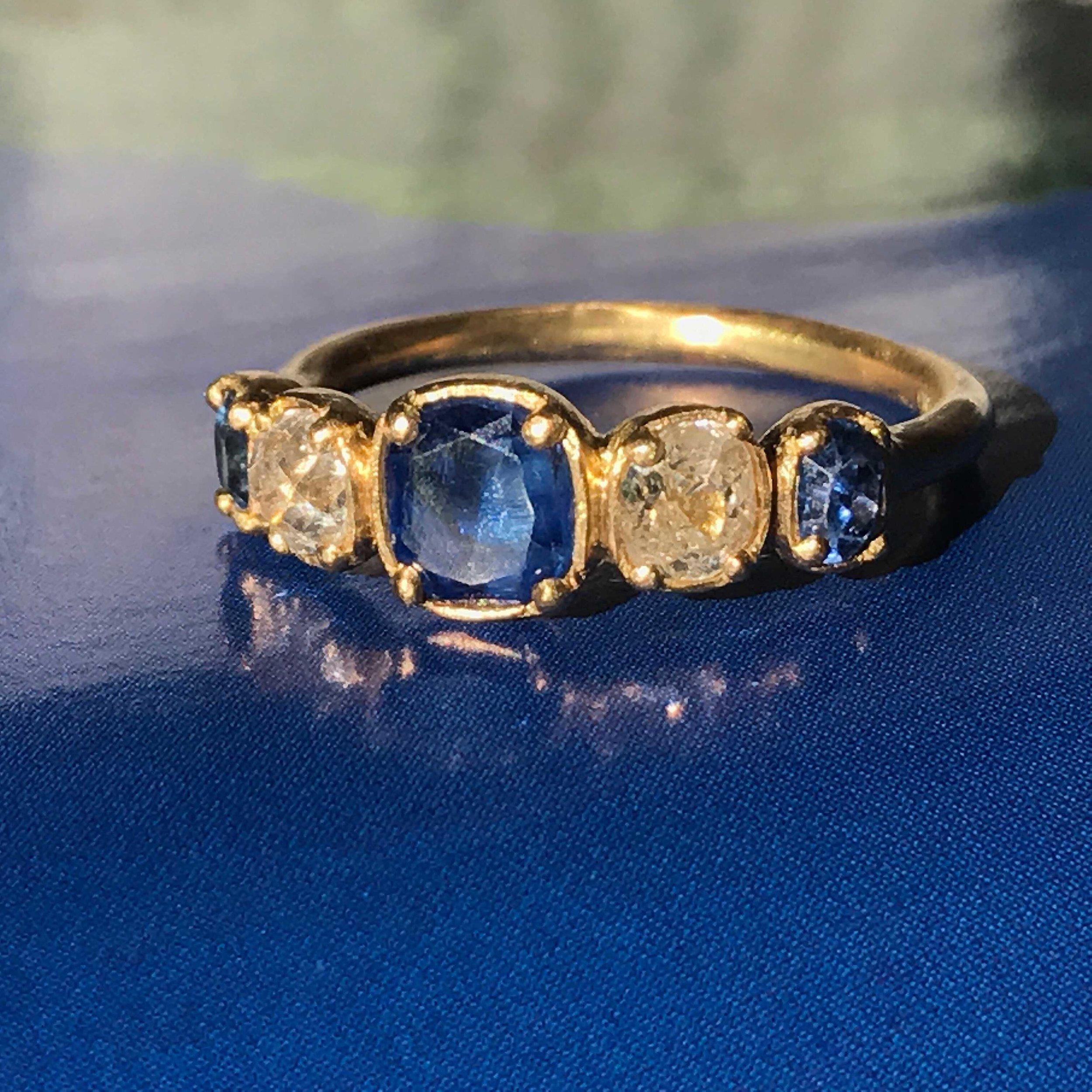 'Golden Blue' Ring