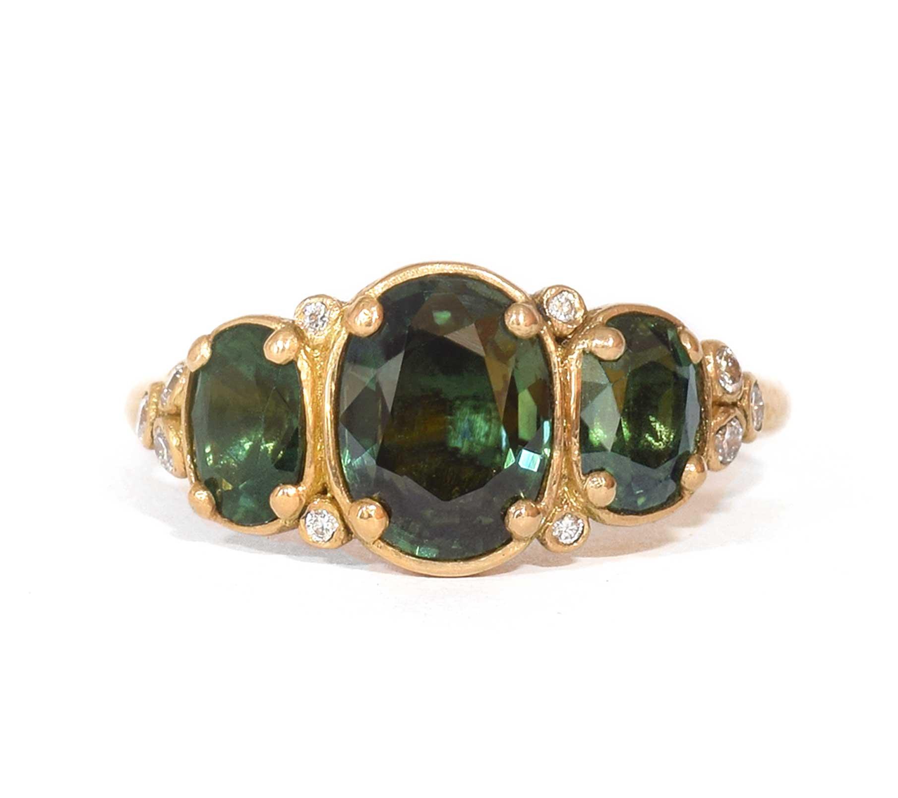 Fine Green Sapphire 'Ophir' Ring - Suzi Zutic