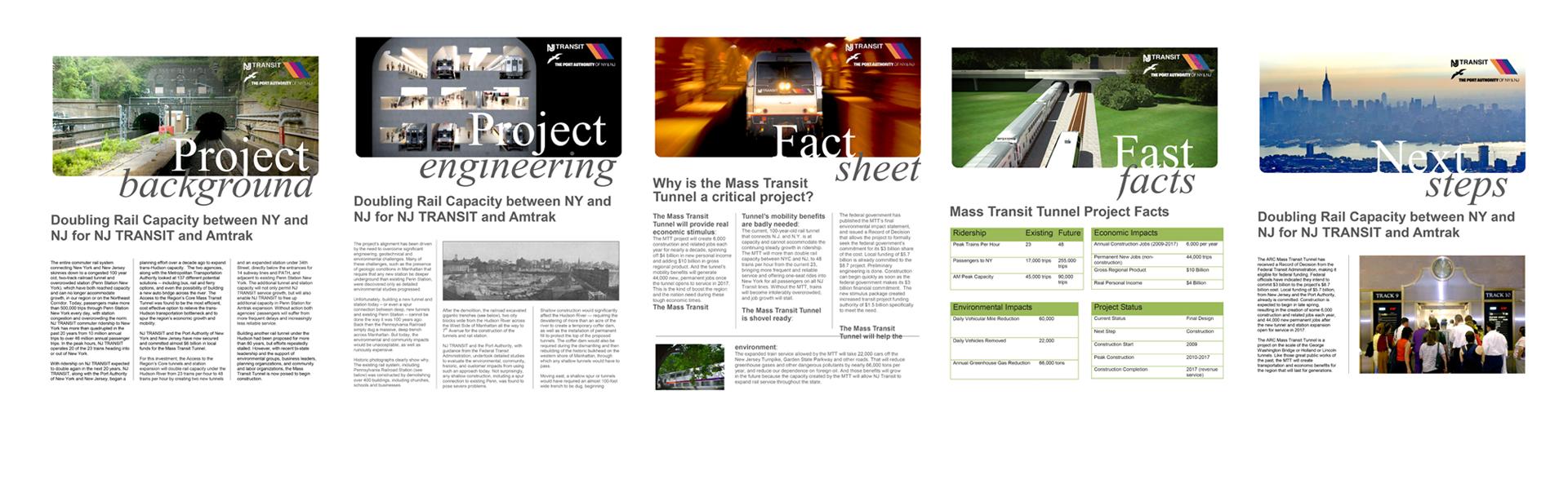 ARC (Access to the Region's Core) - Press Kit Design for NJ Transit
