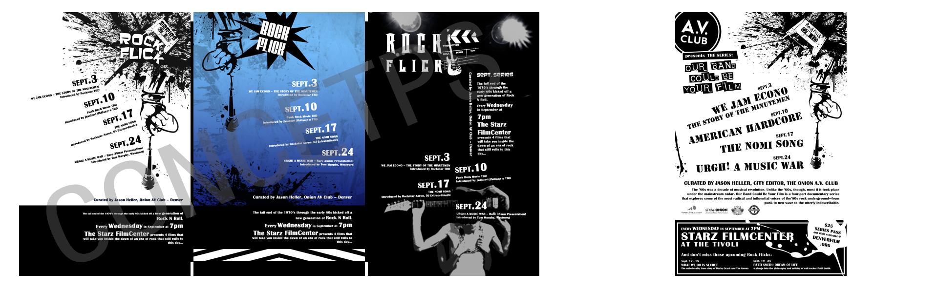 Denver Film Center - Rock Flick Poster Design