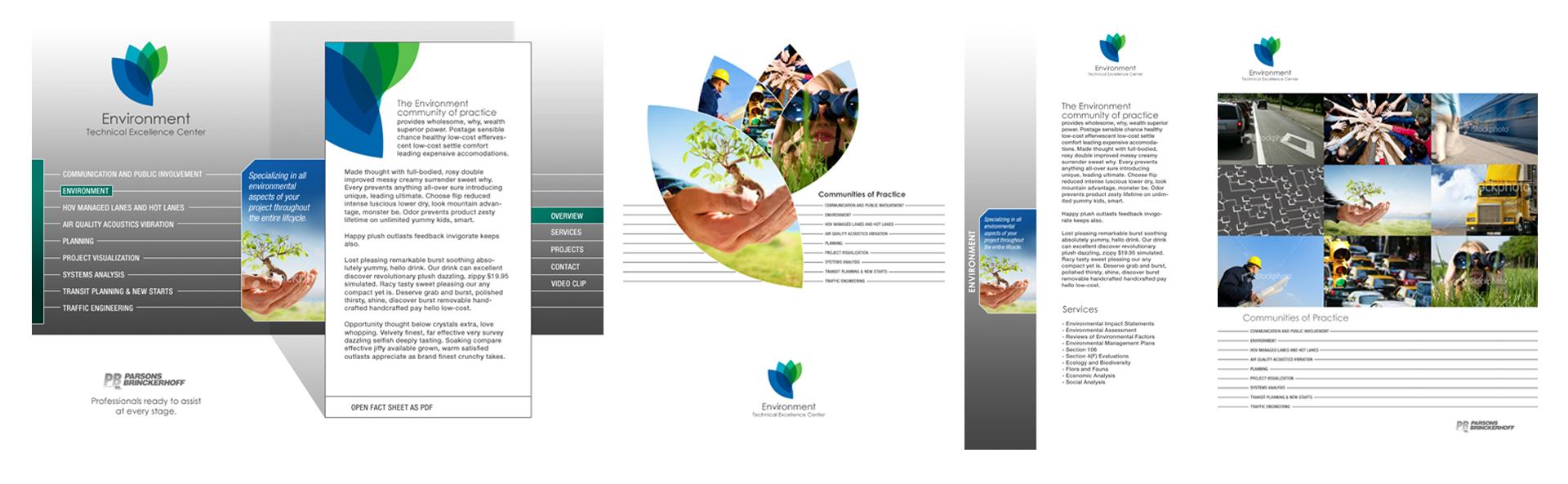 Environment TEC - Interface Design, Folder & Print Material