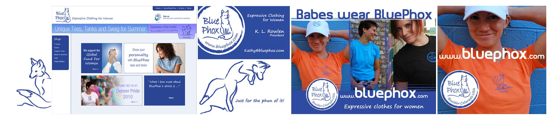 Blue Phox - Illustrations, Logo, Brand, Website & Ad