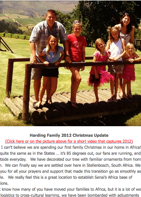 Decmber 2012 Newsletter