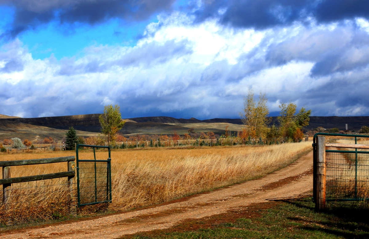 Before storm, Ucross, Wyoming
