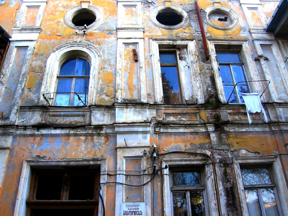 Crumbling facade, Tbilisi, Georgia