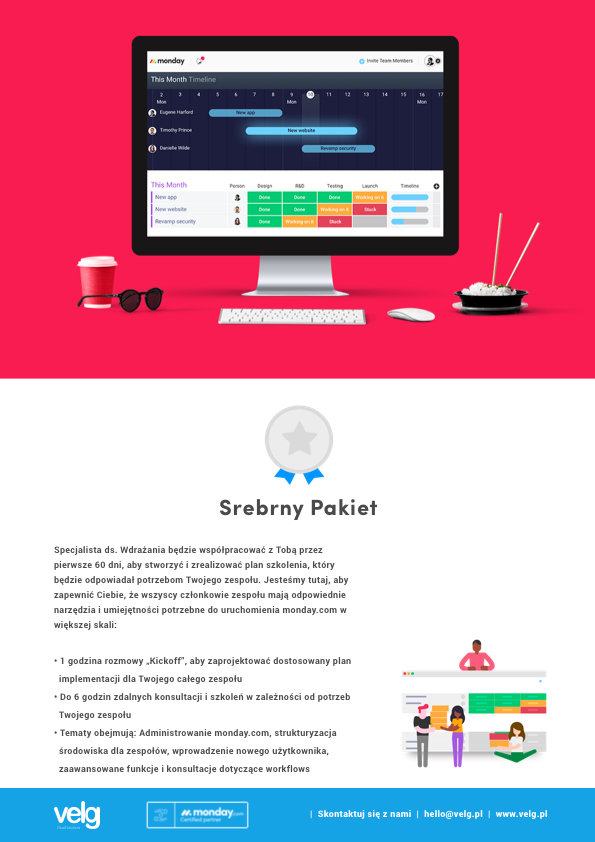 monday.com partner szkoleniowy w Polsce Velg