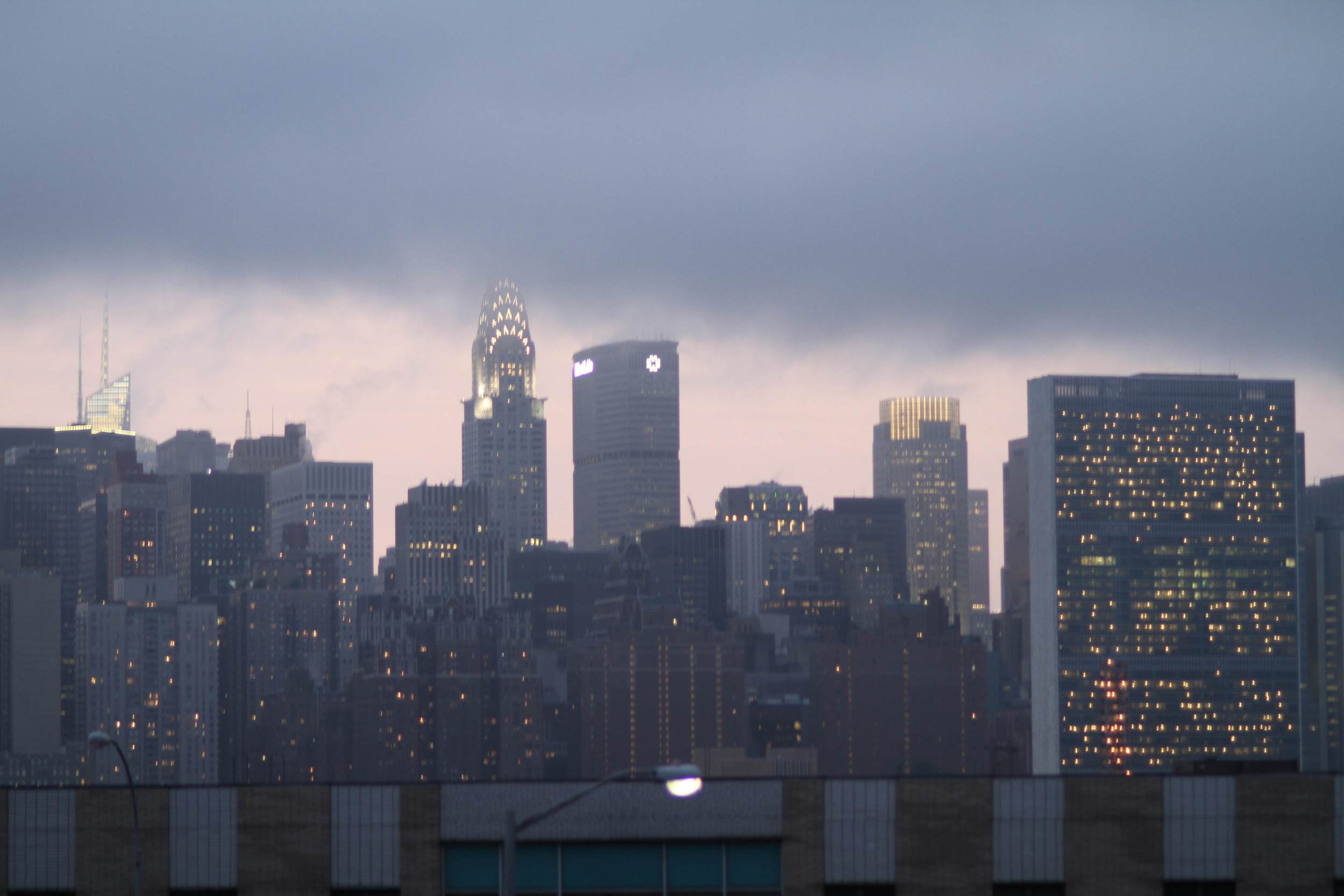 Manhattan skyline from Greenpoint.