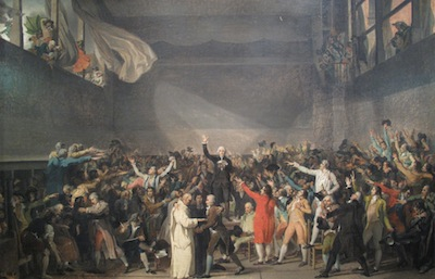 The Tennis Court Oath by Jacques-Louis David.