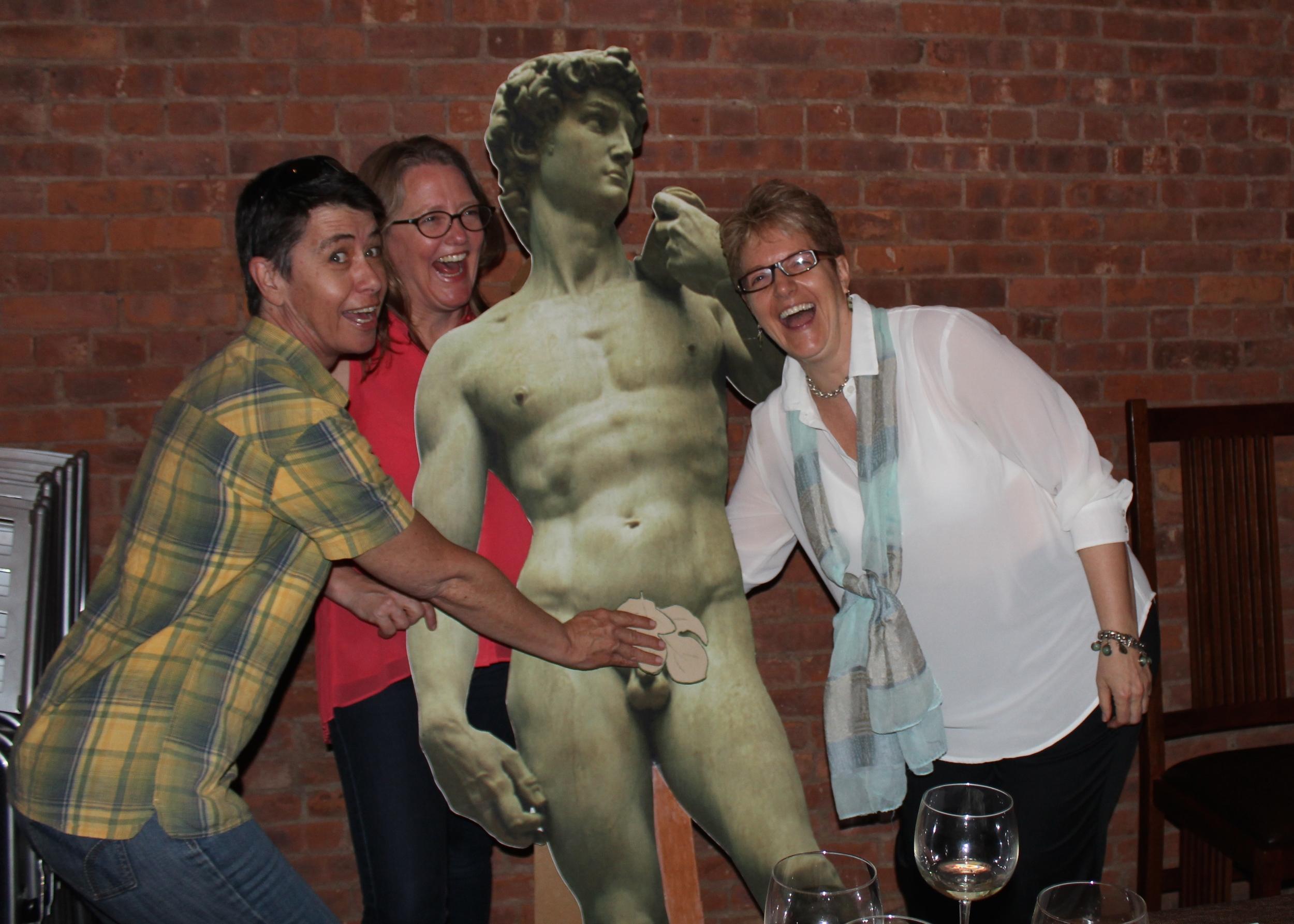 Joanna Marple, Sarah Towle, David, and Emma D. Dryden at KidLit TV's TTT&T Kickstarter Launch Party.